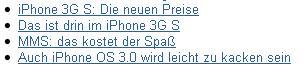 iPhone OS 3.0 wird leicht zu kacken sein
