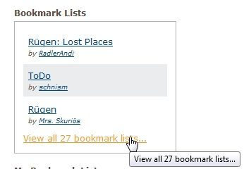 Bookmarklisten