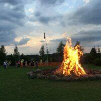 Feuer mit Kiiking