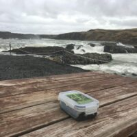 Urriðafoss mit Cache